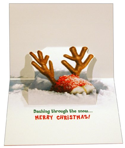 Bulldog Reindeer - Avanti Holiday Card