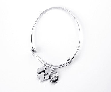 Thoughts to Share Expandable Charm Bracelet, Paw Print - Pi Style Boutique - Giftcraft - Accessories