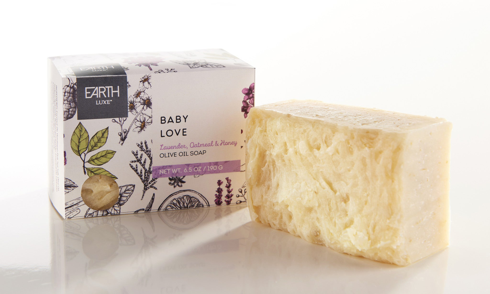Luxe Bath Soap -baby love lavender oatmeal & honey - Pi Style Boutique - Giftcraft - Bath & Body