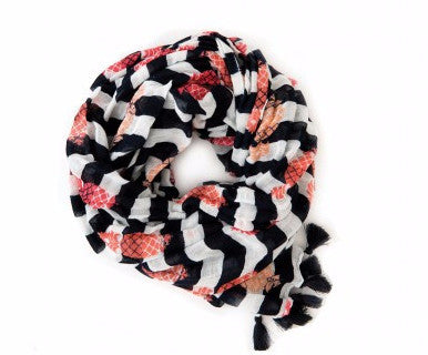 Spartina Pineapples & Stripes Scarf - Pi Style Boutique - Spartina