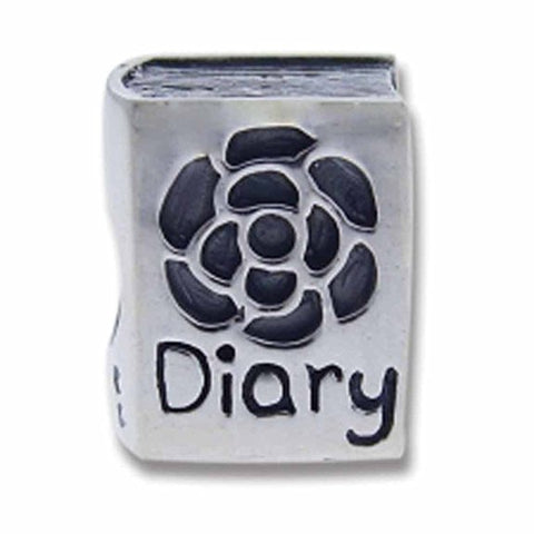 Sterling silver diary charm. click for more information