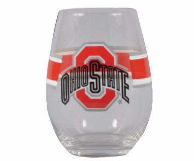 Ohio State Stemless Wine Glass - Pi Style Boutique - Magnolia Lane