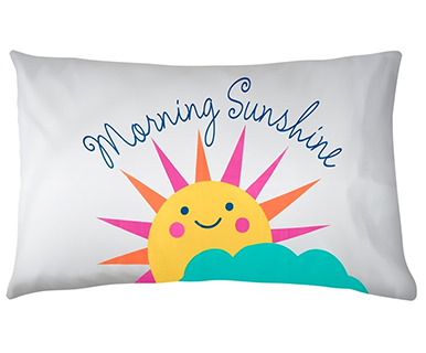 """Morning Sunshine"" Pillow Case Cotton - Pi Style Boutique - MidWest CBK - Gifts & Decor"