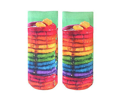 Rainbow Pancakes - Living Royal No Show Socks