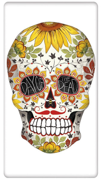 Mary Lake Thompson - Floral Halloween Spooky Skull (Day of the Dead) Towel - Pi Style Boutique - Mary Lake-Thompson Ltd. - Gifts & Decor