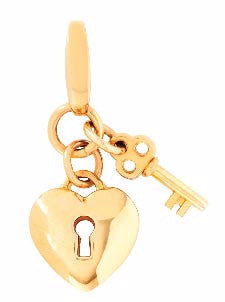 Locked Heart Charm - Pi Style Boutique - Spartina