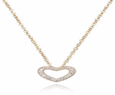 0.2 carat Heart Rose Gold Pendant with Chain - Pi Style Boutique - Crislu