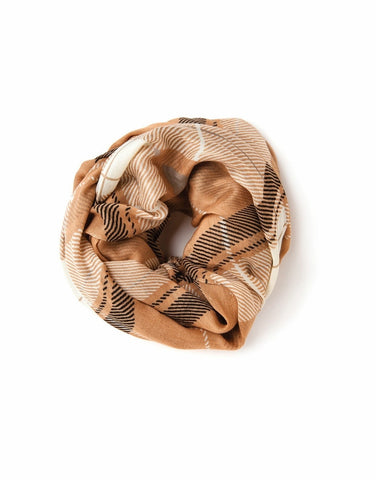 Camel Plaid - Spartina 449 Viscose Scarf