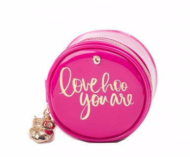 Oh So Witty Jewelry Case- Love Hoo You Are/Pink - Pi Style Boutique - Spartina
