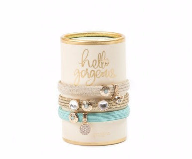 Oh So Witty Hair Ties- Cream/Hello Gorgeous - Pi Style Boutique - Spartina