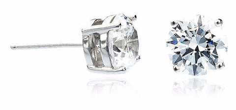 3 carat Round Stud Earrings