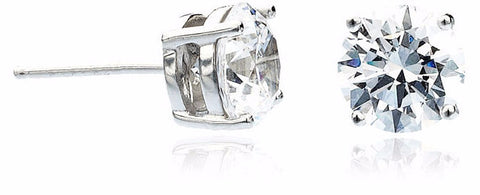4 carat Round Stud Earrings