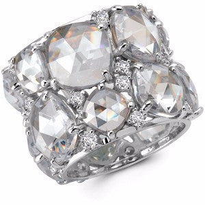 40 CTTW Clear CZ Candy Couture Platinum Ring