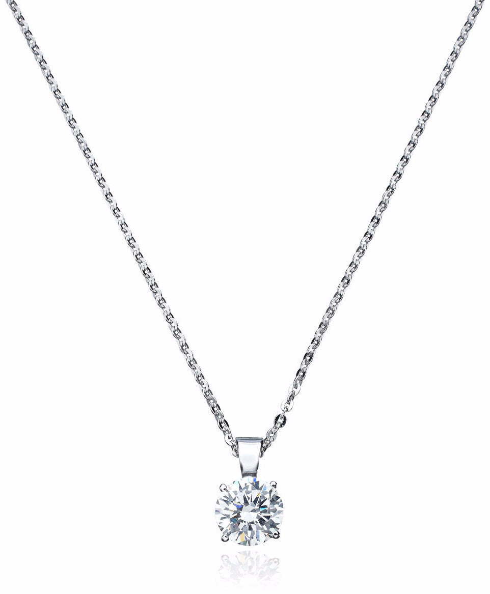 1.35 carat Solitaire Pendant with Chain - Pi Style Boutique - Crislu