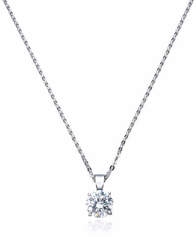 1.35 carat Solitaire Pendant with Chain
