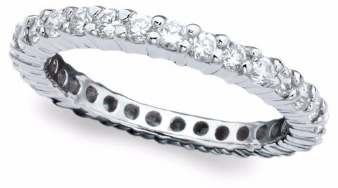 1 carat Round Stone Eternity Ring