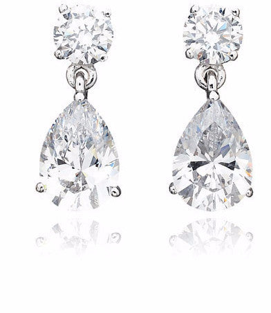 3 carat Pear Shaped Earrings