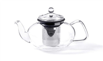 For Tea's Sake Glass Teapot with Infuser - Pi Style Boutique - Giftcraft - 1