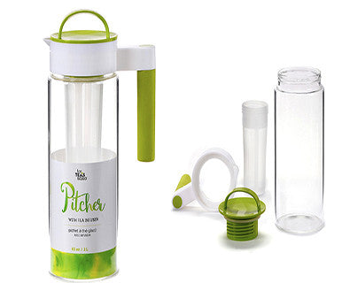 For Tea's Sake 65oz Iced Tea Pitcher with Infuser - Pi Style Boutique - Giftcraft - Gifts & Decor