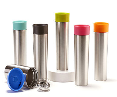 Color Pop! - For Teas Sake Stainless Steel Travel Mug (FINAL SALE)