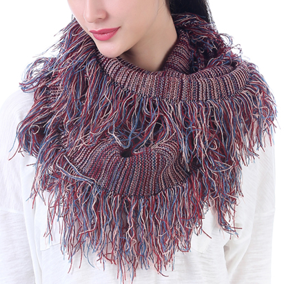Aubrey - Fringe Infinity Scarf - Pi Style Boutique - Mad Style - Accessories