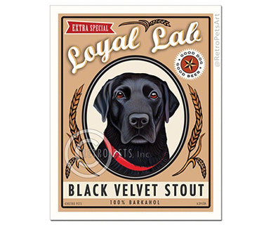 Black Velvet Stout - Print - Pi Style Boutique - Retro Pets Art - Gifts & Décor