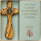 """Good Shepherd"" - Olive Wood Holding Cross - Pi Style Boutique - Good Gift - 2"