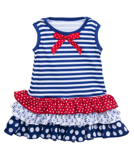 Nautical Ruffle Dress