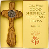 """Good Shepherd"" - Olive Wood Holding Cross - Pi Style Boutique - Good Gift - 3"