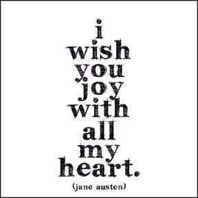 "Austen: ""I wish you joy…"""