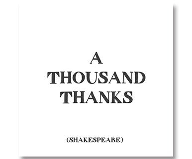 A Thousand Thanks - Quotable