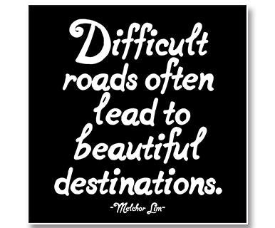 Difficult Roads - Quotable Cards