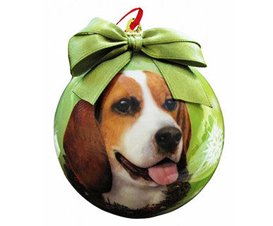 Beagle- Doggie Ball Ornament - Pi Style Boutique - E&S Pets - Gift & Decor