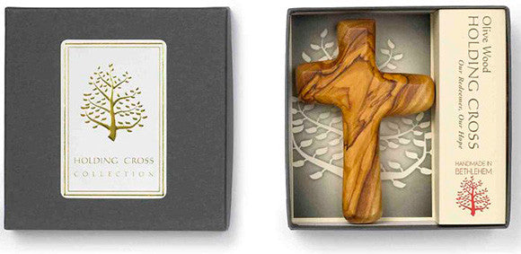 """Olive Wood"" - Holding Cross - Pi Style Boutique - Good Gift - 1"