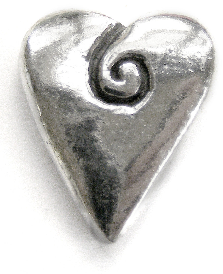 Basic Spirit Spiral Heart (no writing) Pocket Token - Pi Style Boutique - Basic Spirit