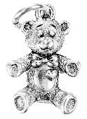 Charm Silver Teddy Bear - Pi Style Boutique - Beaucoup