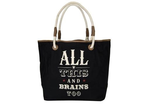 All This and Brains Too Tote - Pi Style Boutique - JKC Studio