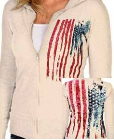 Bleeding Old Glory - Liberty Wear Zip Up