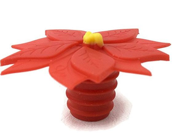 Poinsettia - Charles Viancin Bottle Stopper