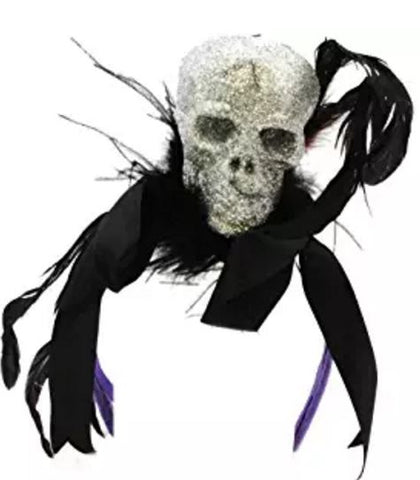Gholish fun! This headband features black feathers, silk and a sparkly s... click for more information