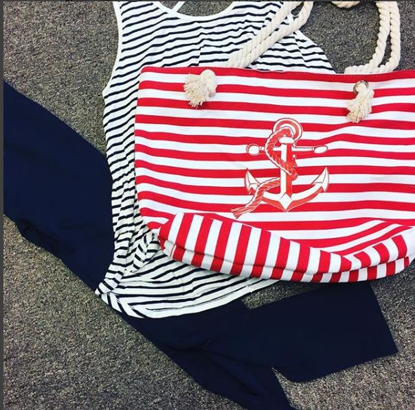 Anchor and Stripe - Canvas Tote