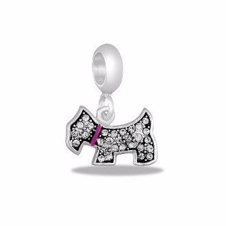 Dog Shaped Crystal Dangle - Pi Style Boutique - Center Court