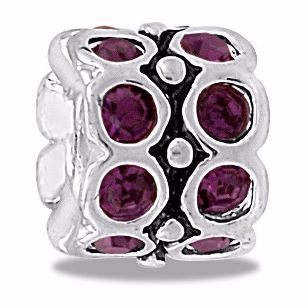 DaVinci Bead February CZ Wheel Birthstone - DB32-5-DAV - Pi Style Boutique - Center Court