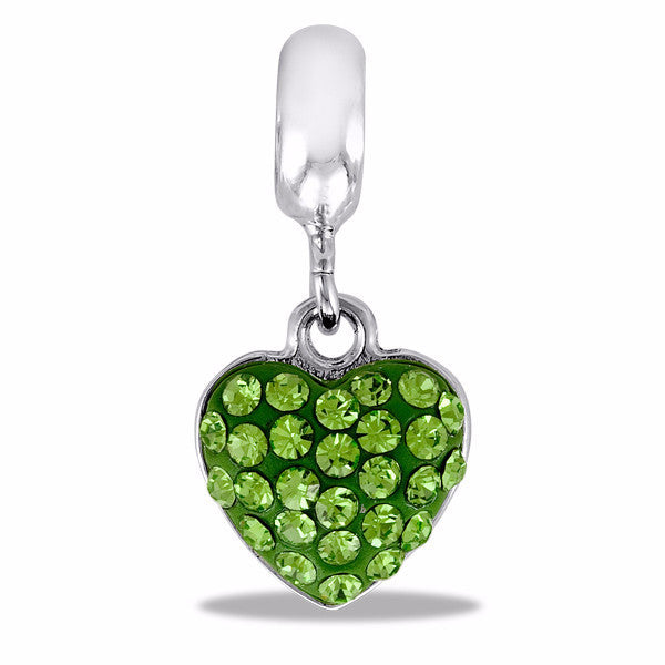 DaVinci Bead August Heart - DB42-6-DAV - Pi Style Boutique - Center Court