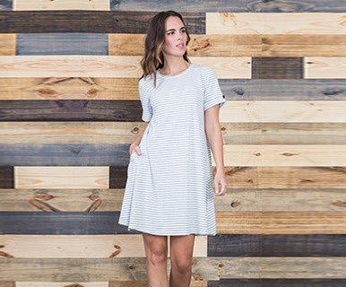 Ribbed Sailor - Simply Noelle Dress (FINAL SALE)