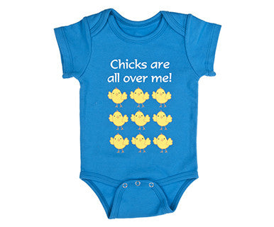 Baby Diaper Shirt - Chicks are all over me - Pi Style Boutique - Ganz - Gifts & Decor