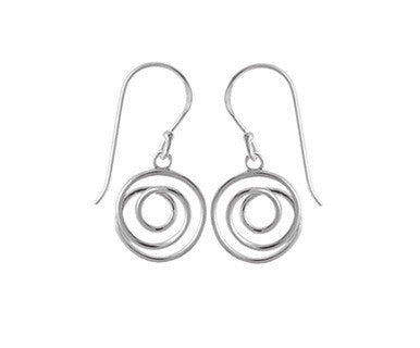 Round Spiral Curl Dgl Earring - Pi Style Boutique - Boma Jewelry - Accessories