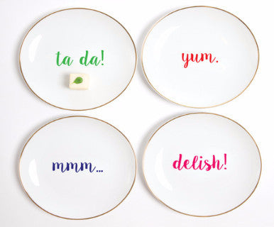Small Bites - 4pc plate sets - Pi Style Boutique - Pi Style Boutique -  - 8