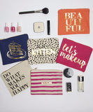 Lets Makeup - Canvas Pouch - Pi Style Boutique - 8 Oak Lane - Accessories - 1