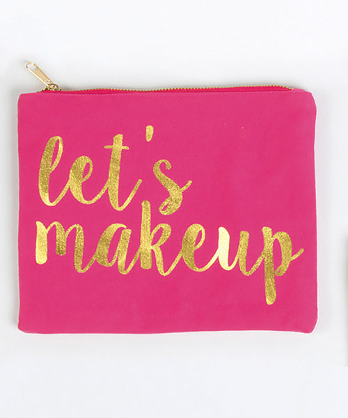 Lets Makeup - Canvas Pouch - Pi Style Boutique - 8 Oak Lane - Accessories - 6